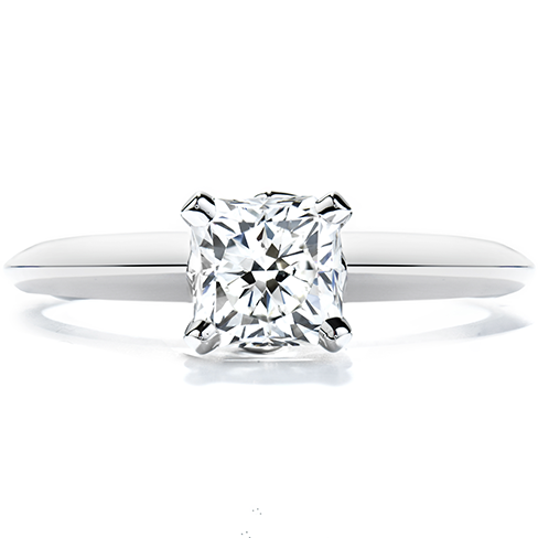 Heart's On Fire Solitaire Diamond Ring