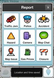 Waze Report Screen